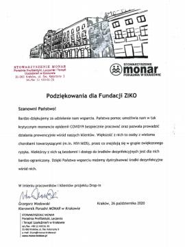 podziękowania_dla_fundacji_ziko_dla_zdrowia_monar